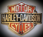 Harley Davidson XL Solid Brass Belt Buckle. Code H077